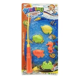 Imagen de Juego de pesca magnético, caña con 5 accesorios, en blister