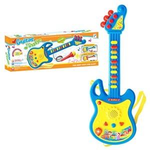 Imagen de Guitarra de plástico, didáctica, con luz y sonido, 3AA, 2colores en caja