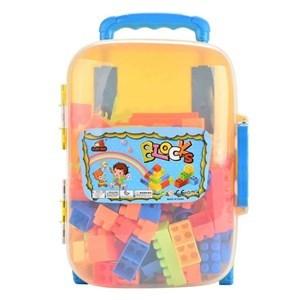 Imagen de Blocks x102 piezas de plástico medianas, en valija