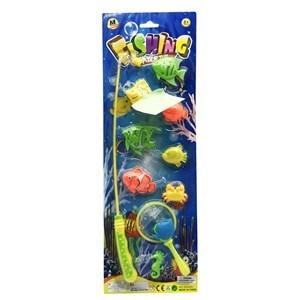 Imagen de Juego de pesca magnético, caña con 10 accesorios, en blister