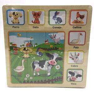 Imagen de Puzzle de madera 16 piezas, diseño animales