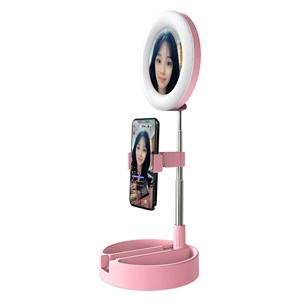 Imagen de Aro de luz LED con espejo soporte para ceular y organizador, en caja