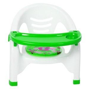 Imagen de Silla infantil de plástico, con chifle, con mesa desmontable, 2 colores
