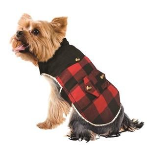Imagen de Capa de abrigo para mascotas chicas, forrada en corderito, varios colores