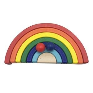 Imagen de Arco iris de madera, juego de desarrollo psicomotriz, en caja
