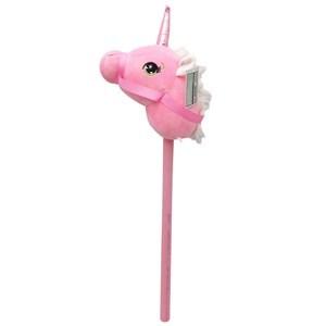 Imagen de Cabeza de caballito unicornio ROSADO con riendas, con sonido, palo para montar, 2 colores