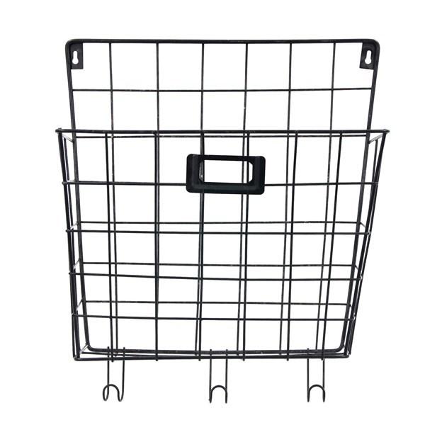 Imagen de Organizador de metal canasto para colgar, con 3 ganchos