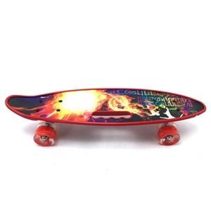 Imagen de Skate de plástico penny, con asa, luz en las ruedas, trucks de metal, varios colores