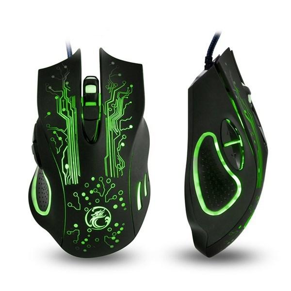 Imagen de Mouse óptico gamer ergonómico X9 IMICE con cable, en caja