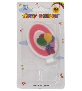 Imagen de Velita N°0 con globos, en blister