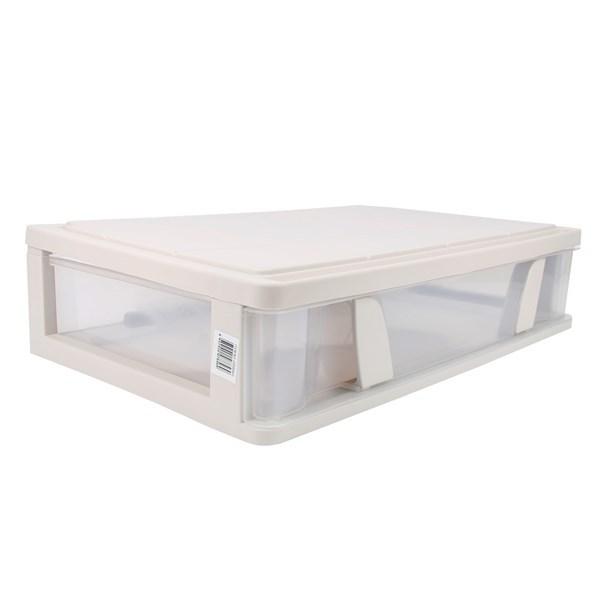 Imagen de Caja organizadora de plástico, apilable con ruedas, 63x39x15.5cm