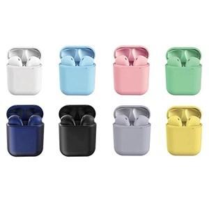 Imagen de Auriculares inalámbricos bluetooth V5.0, i12, varios colores, en caja