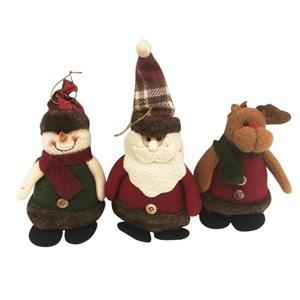 Imagen de Adorno navideño muñeco de tela, 3 modelos