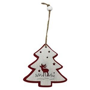 Imagen de Adorno navideño de fieltro y madera