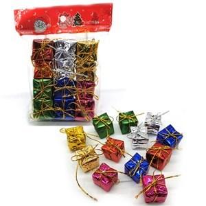Imagen de Adorno navideño regalitos x12, en bolsa