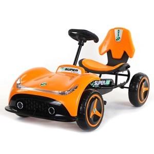 Imagen de Auto kart a pedal ANARANJADO, ruedas de plástico, en caja