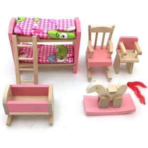 Imagen de Muebles para muñecas de madera, en caja