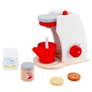 Imagen de Electrodoméstico, cafetera de madera con accesorios, en caja