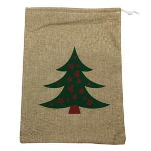 Imagen de Bolsa de arpillera con piola, varios diseños navideños