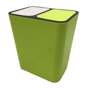 Imagen de Papelera de plástico 15L dos divisiones, varios colores