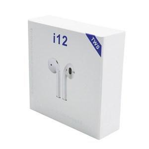 Imagen de Auriculares inalámbricos bluetooth V5.0, i12, BLANCO, en caja