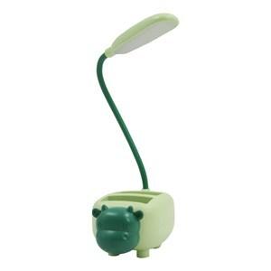 Imagen de Lámpara touch flexible, recargable con cable USB, con portalápices, en caja varios colores y diseños