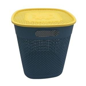 Imagen de Caja organizadora de plástico con tapa y asa, varios colores