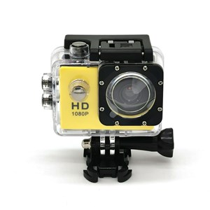 """Imagen de Cámara deportiva waterproof, AMARILLO con pantalla de 2"""", en caja"""