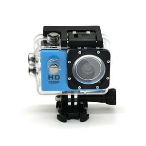 """Imagen de Cámara deportiva waterproof, CELESTE con pantalla de 2"""", en caja"""