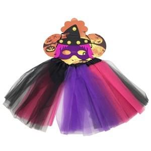 Imagen de Disfraz pollera con máscara de bruja con luz, en bolsa