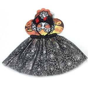 Imagen de Disfraz pollera, vincha, varita y antifaz, diseño de haloween