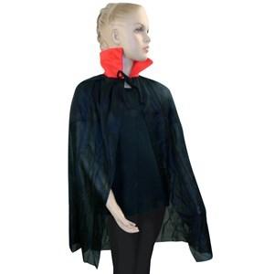 Imagen de Capa negra con cuello rojo, en bolsa