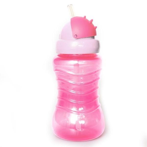 Imagen de Botella de plástico MI-K, con diseño infantil, 295ml, 2 colores