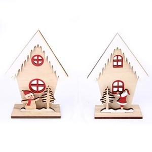 Imagen de Adorno navideño casita de madera, en bolsa