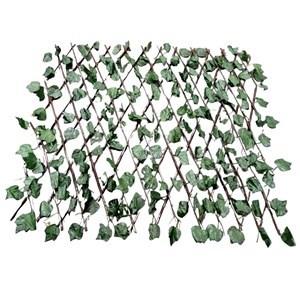 Imagen de Cerco extensible madera con follaje de plástico