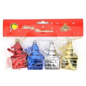 Imagen de Adorno navideño, papá Noel x4 en bolsa