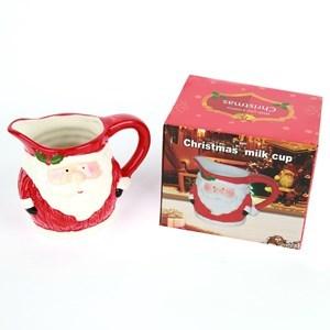Imagen de Jarra para salsas de cerámica diseño navideño en caja