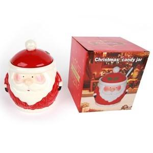 Imagen de Azucarero de cerámica diseño navideño, en caja