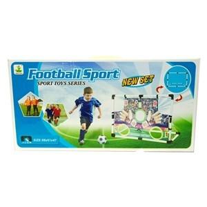 Imagen de Arco de fútbol 2 en 1, con pelota e inflador, en caja