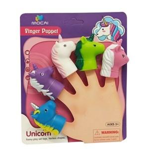 Imagen de Títere de dedo unicornios, en cartón