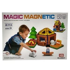 Imagen de Blocks magnéticos, 40 piezas, en caja