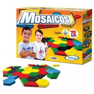 Imagen de Blocks 72 piezas mosaico de madera, XALINGO, en caja