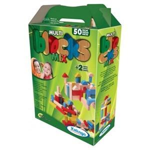 Imagen de Blocks de madera, 50 piezas, XALINGO, en caja